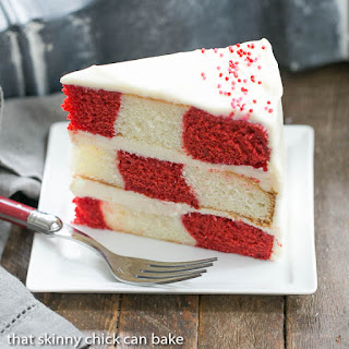 Red Velvet Checkerboard Cake