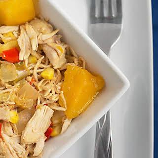 Healthy Slow Cooker Mango Chicken.