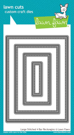Lawn Fawn Custom Craft Die - Large Stitched 4 Bar Rectangles