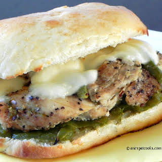 Slow Cooker Chicken Philly Sandwiches.