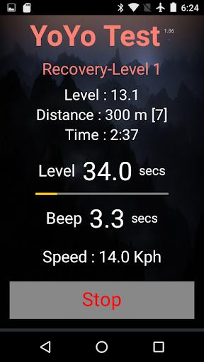 Yo-Yo Intermittent Test 2.15 screenshots 2