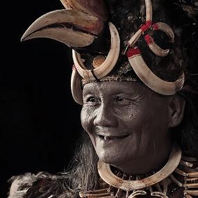 Suku Dayak Kalimantan by German Kartasasmita - People Portraits of Men ( senior citizen )