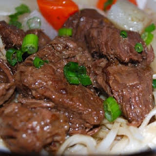 Slow Cooker Beef Stew with Sesame Noodles.