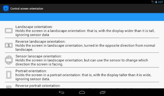 control screen rotation screenshot