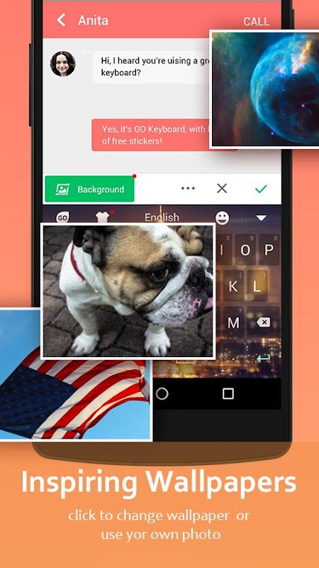GO Keyboard - Cute Emojis, Themes and GIFs screenshots