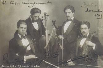 Photo: Quartet Renaixement, Berlin 1913 © Family Archive (Mdm. Narcisa Toldrà)