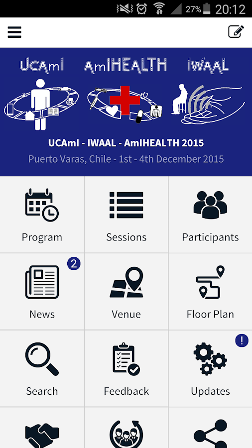 UCAmI - IWAAL - AmIHEALTH 2015- screenshot