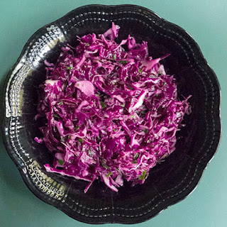 Simple Red Cabbage Salad.