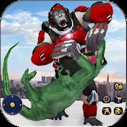Wild Gorilla Transforming Robot: Dino Hunting Game