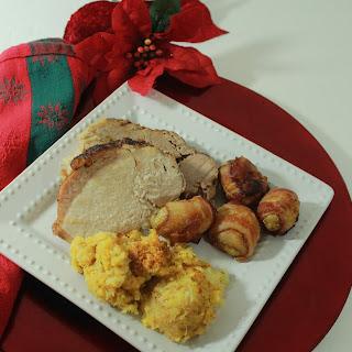 Apple-Glazed Pork Loin Roast with Crushed Pineapple Stuffing Recipe