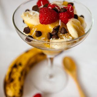 Banana and Custard Parfait.