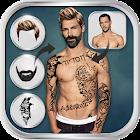 Man Hairstyle Tattoo Editor icon