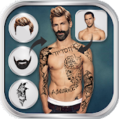 Man Hairstyle Tattoo Editor