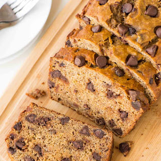 Healthy Banana Bread with Chocolate Chips Recipe