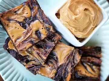 Peanut Butter Swirl Brownies (Gluten Free!)