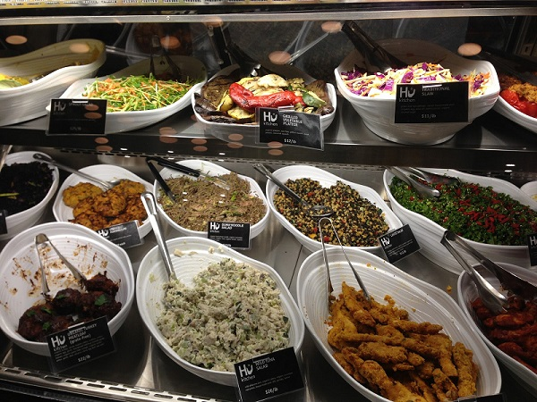 The prepared foods at Hu Kitchen. Photo: Fiorella DiCarlo.