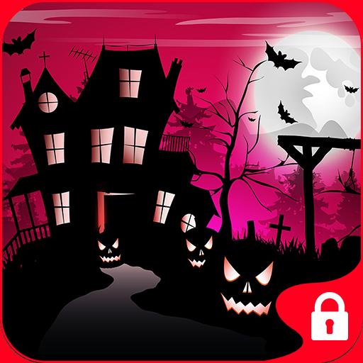个人化のGO Locker Theme Scare House LOGO-記事Game