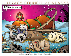 Photo: Benefit poster for the Literacy Council of Alaska