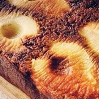 Pear & Double Ginger Upside-down Cake.