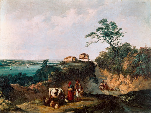 View of Amora, Landscape with People