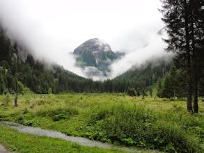 Photo: Böcksteinkogel ragt aus Nebelschwaden - die uns heuer oft begleiteten