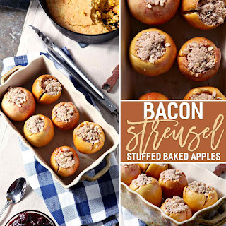 Bacon Streusel Stuffed Baked Apples