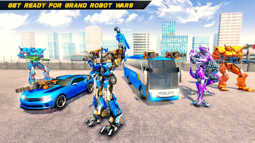Bus Robot Car Transform War u2013Police Robot games modavailable screenshots 6