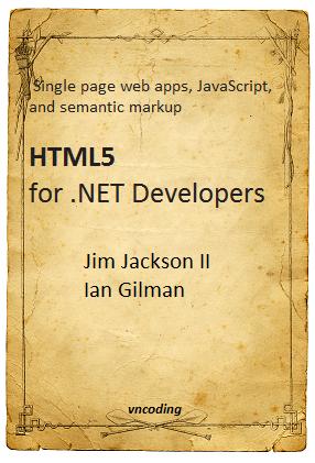 HTML5 for .NET Developers