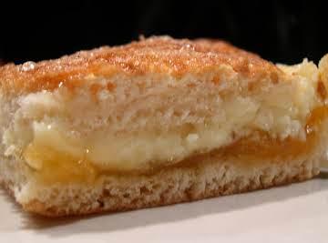 Apricot cream squares (using crescent rolls)