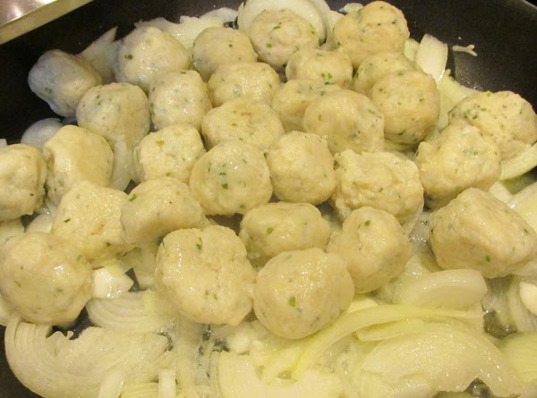 Melt 1/2 stick of butter and 2 tablespoons of olive or canola oil to...