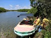 Sri. Lanka Wilpattu National Park . Boat ride through the mangroves