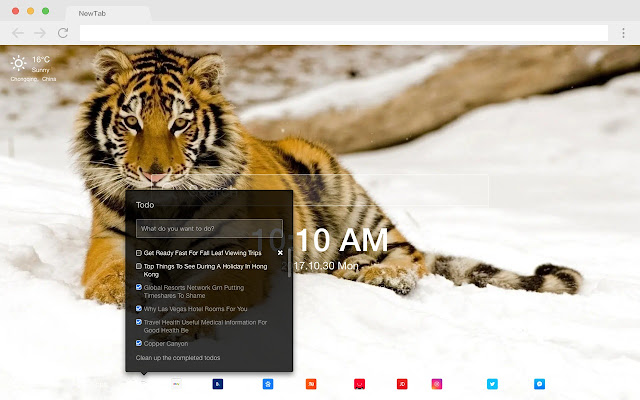 Tiger New Tab HD Animal Top Wallpapers Theme