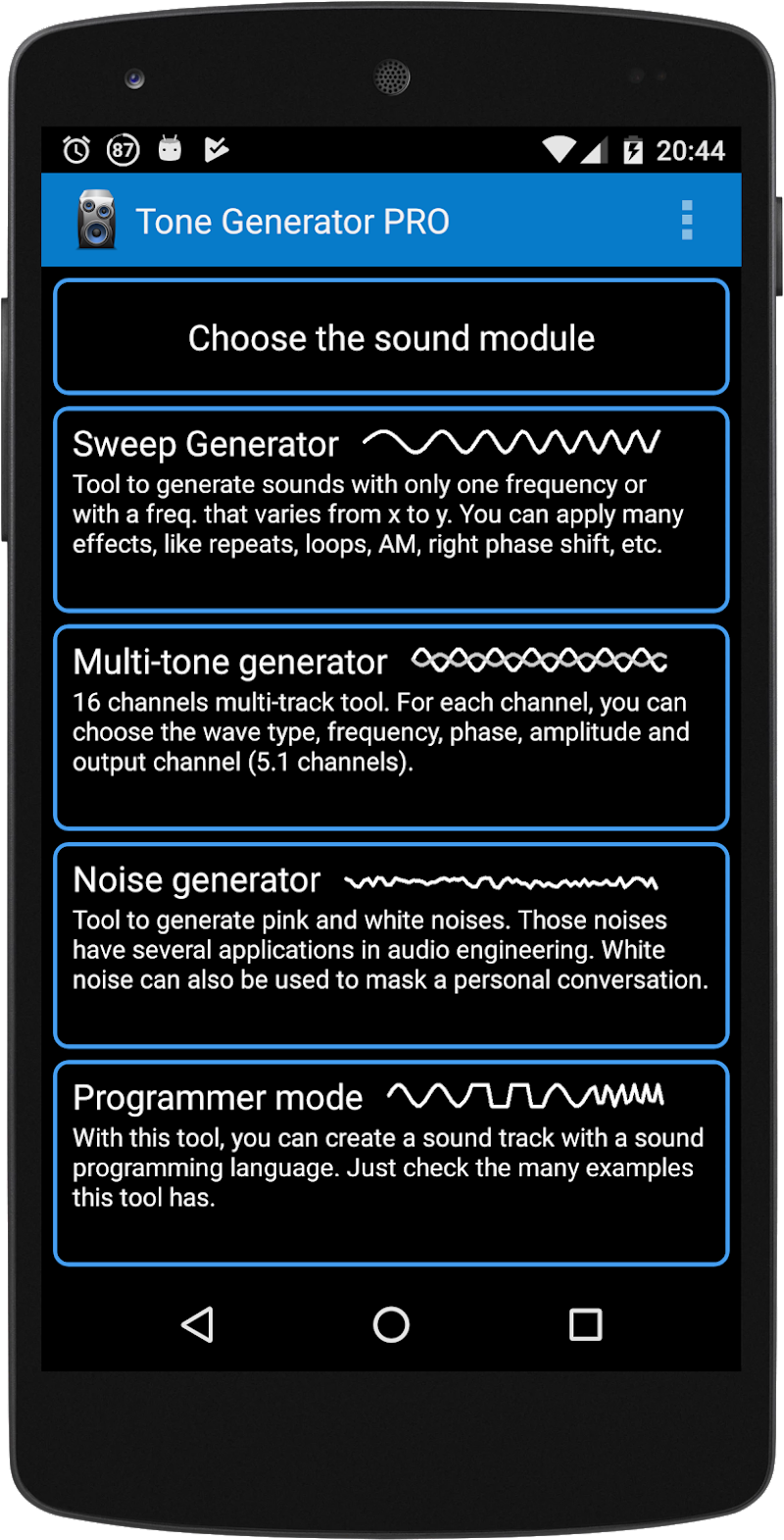 Tone Generator PRO APK Cracked Free Download | Cracked Android Apps