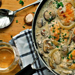 Chicken in Creamy White Wine Sauce Recipe