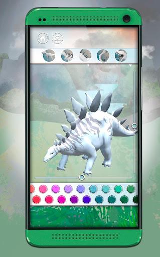 Dinosaurs 3D Coloring Book apkslow screenshots 1