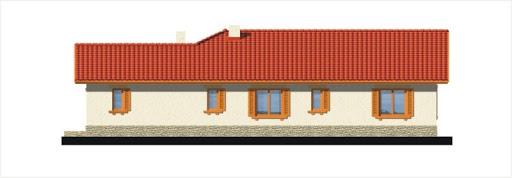 Gracja wersja B z podwójnym garażem powiększonym - Elewacja prawa
