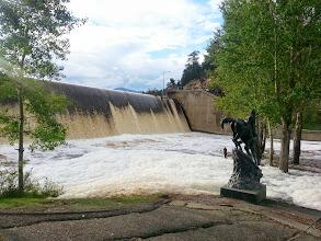 Photo: Dam overflowing