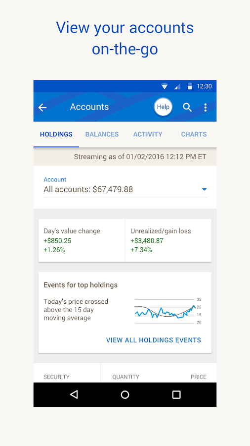 Merrill Edge for Android- screenshot