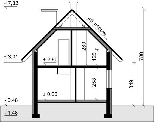 Dom przy Waniliowej - Przekrój