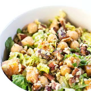 Autumn Chopped Quinoa Salad with Apple Cider + Tahini-Sage Dressing.