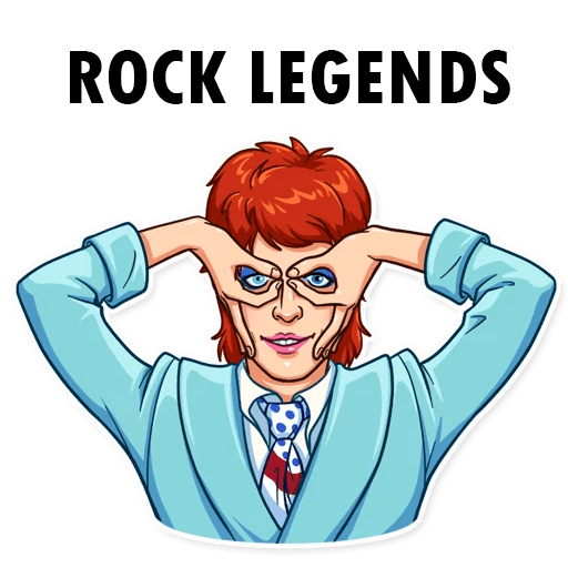 👨‍🎤 WAStickerApps - Rock And Roll Legends