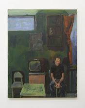 Photo: - Fernseher aus. Acryl/Lwnd. 75x60cm 1993