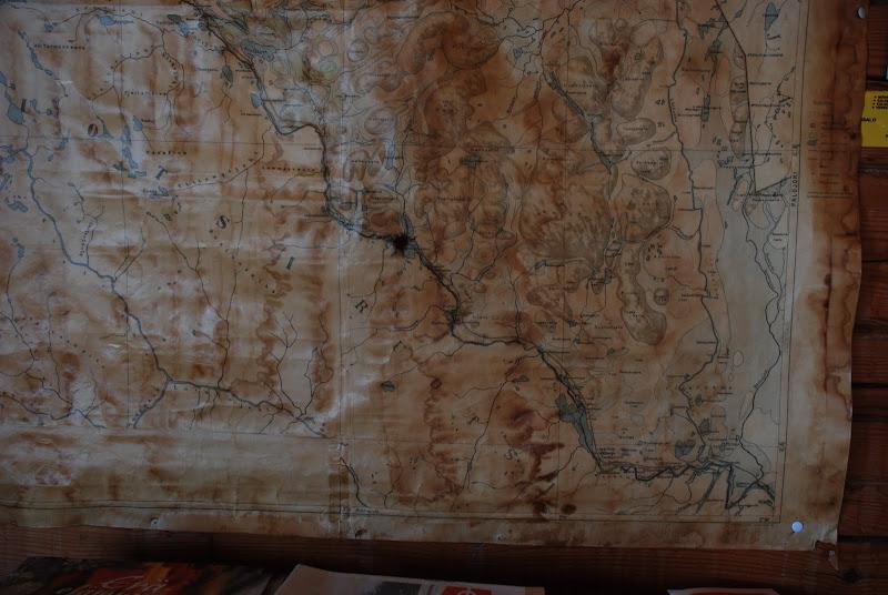 Kuva: Kartta Ropinpirtin seinällä
