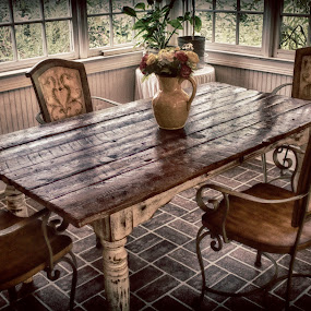 The Table by Allie Small - Artistic Objects Antiques ( allie, floor, table, small, photography, boards,  )