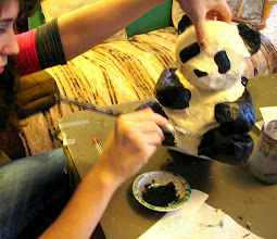 Photo: Papier Mache Panda