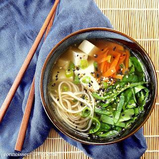 Soba Miso Tofu Soup.