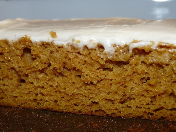 While baking, beat all frosting ingredients together. If you desire a thinner frosting, reduce...