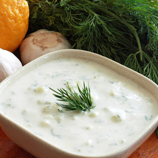 Greek Tzatziki Sauce.