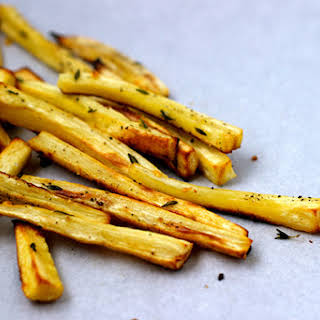 Thyme Roasted Parsnip Fries.