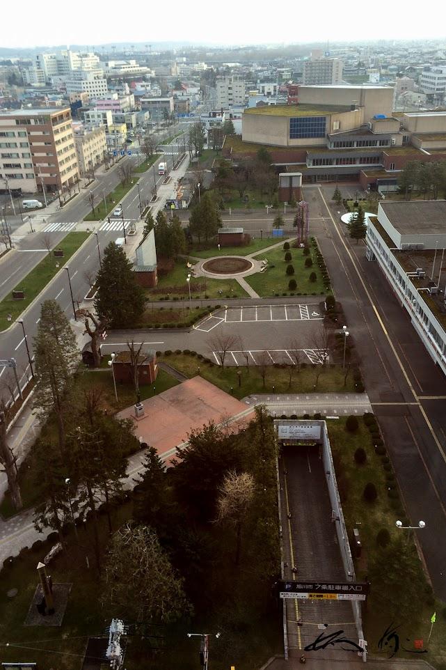 旭川グランドホテル客室窓からの風景